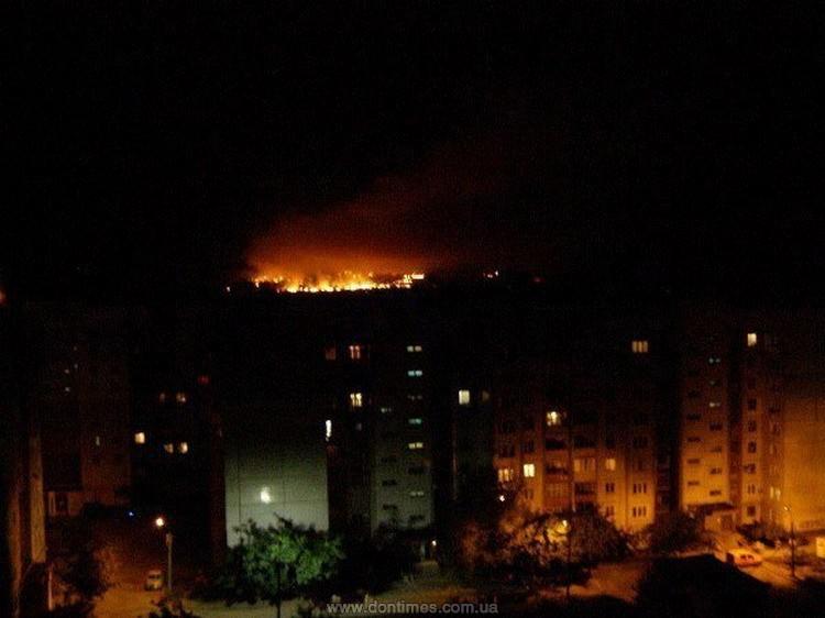 Взрыв прогремел около дома вДонецкой области