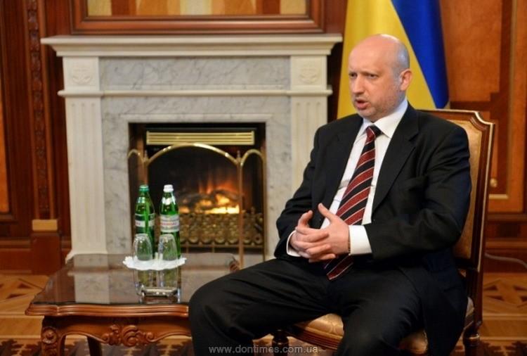 Турчинов выступает заполную экономическую блокаду Донбасса